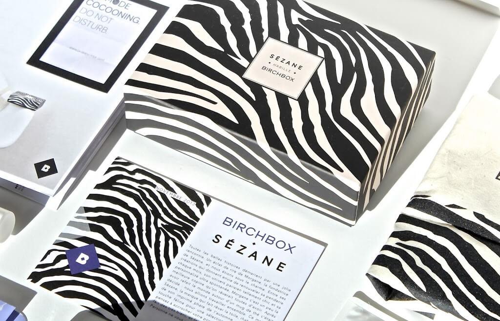 Boîtes zébrées Sézane Birchbox