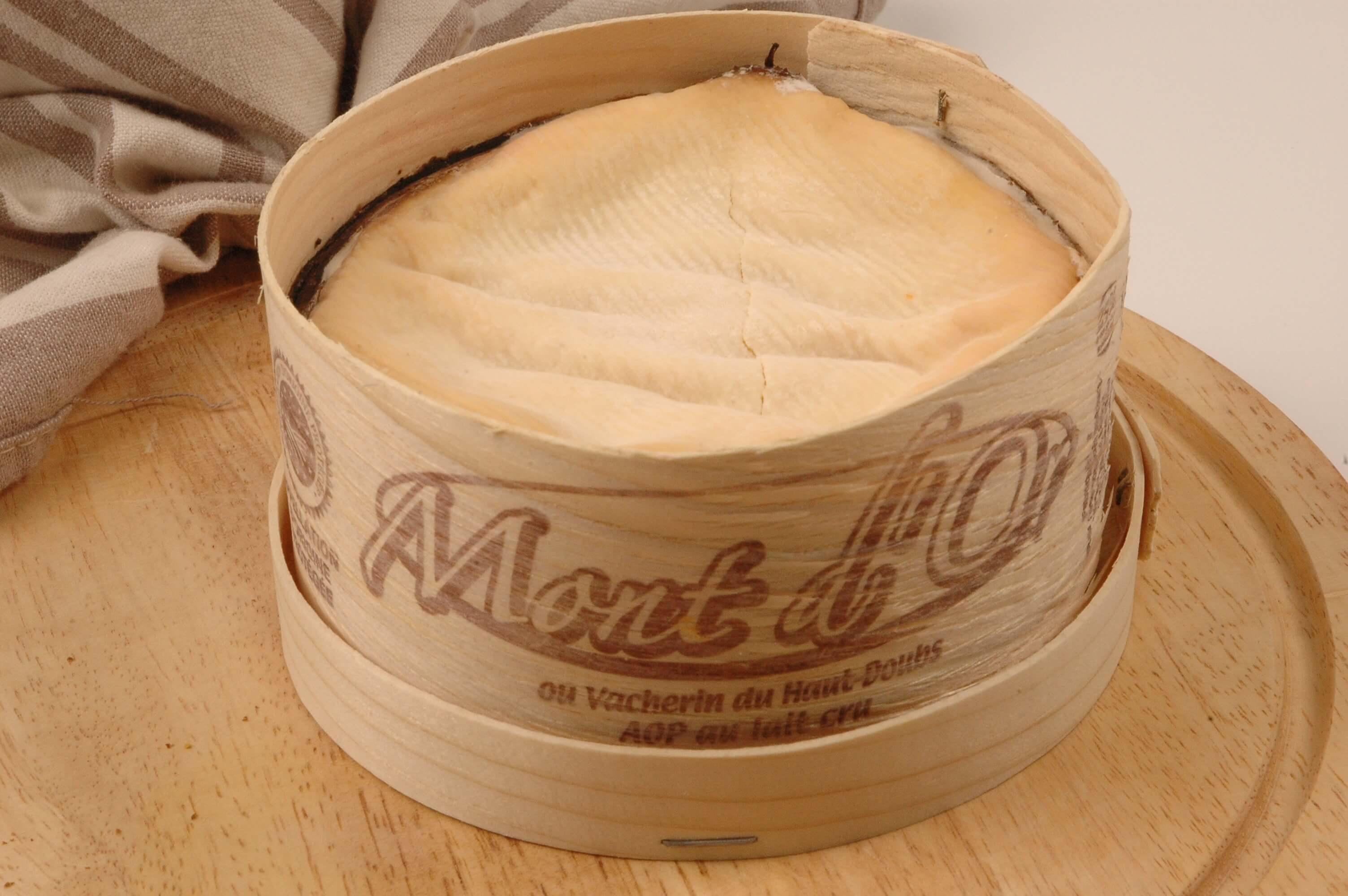 Emballage en bois de fromage
