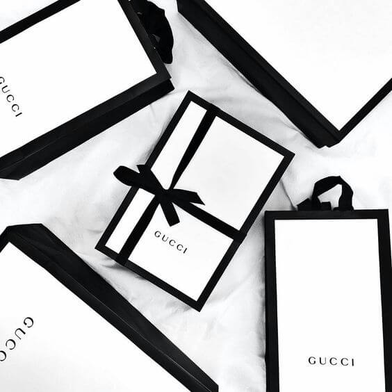 luxury sustainable packaging boxes for gucci
