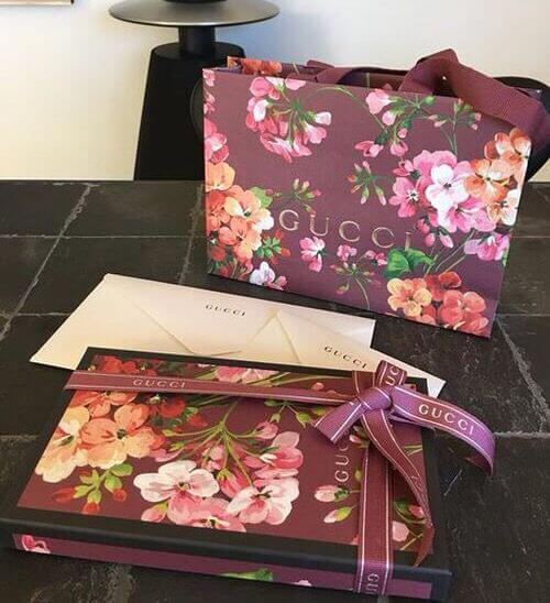 sustainable gucci packaging specially designed fr the flora collection