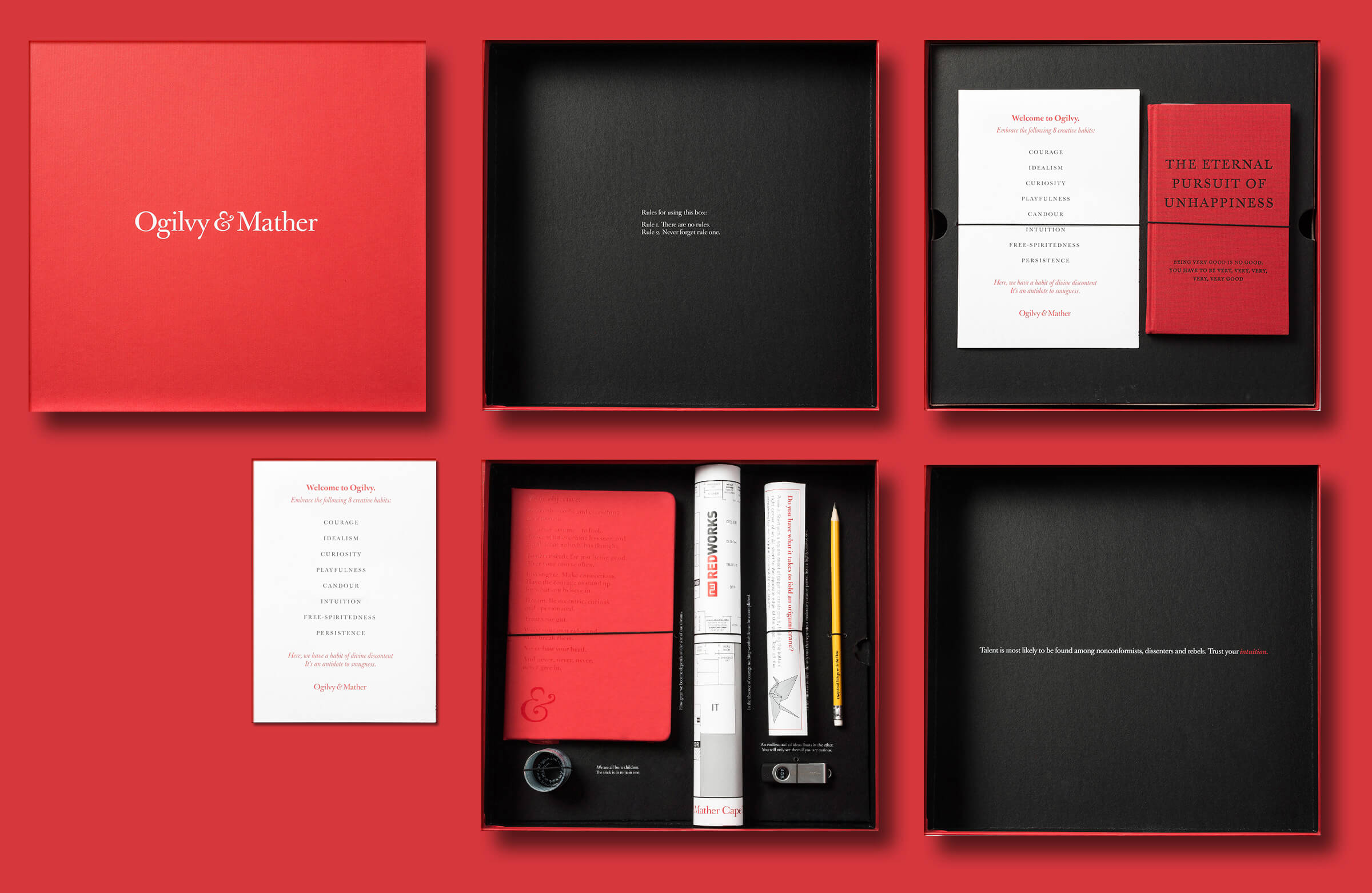 Idee welcome kit con scatola rossa
