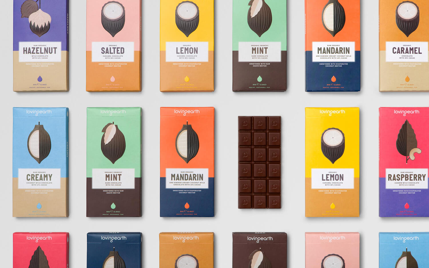 Storytelling packaging Loving Earth cioccolato
