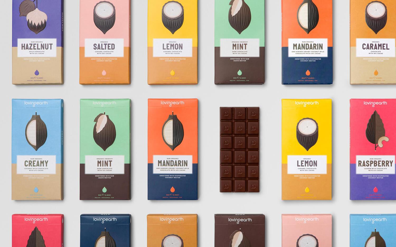 Storytelling packaging Loving Earth cioccolato