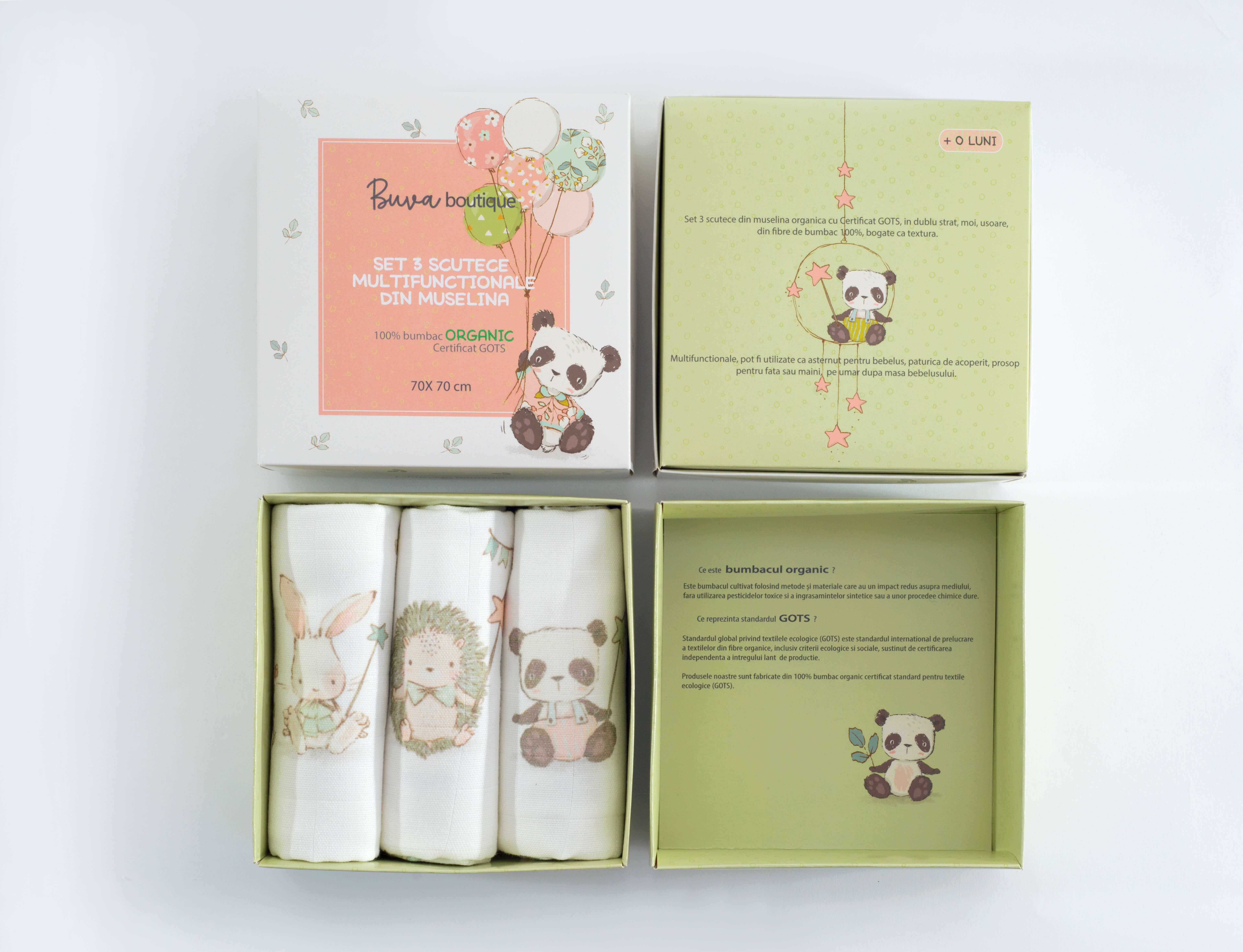 cajas con diseños infantiles de Buva Boutique