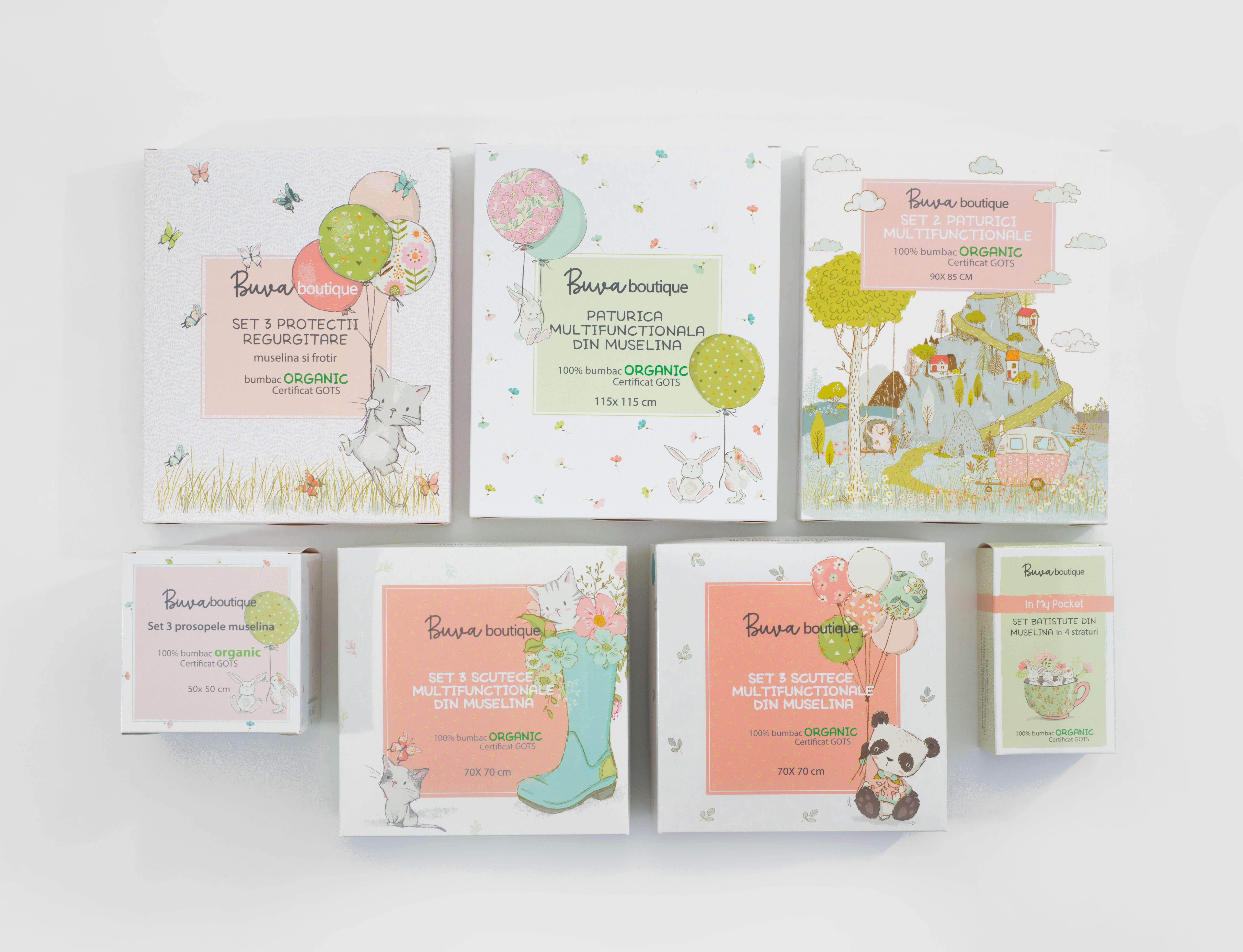 cajas para productos de la marca Buva Boutique