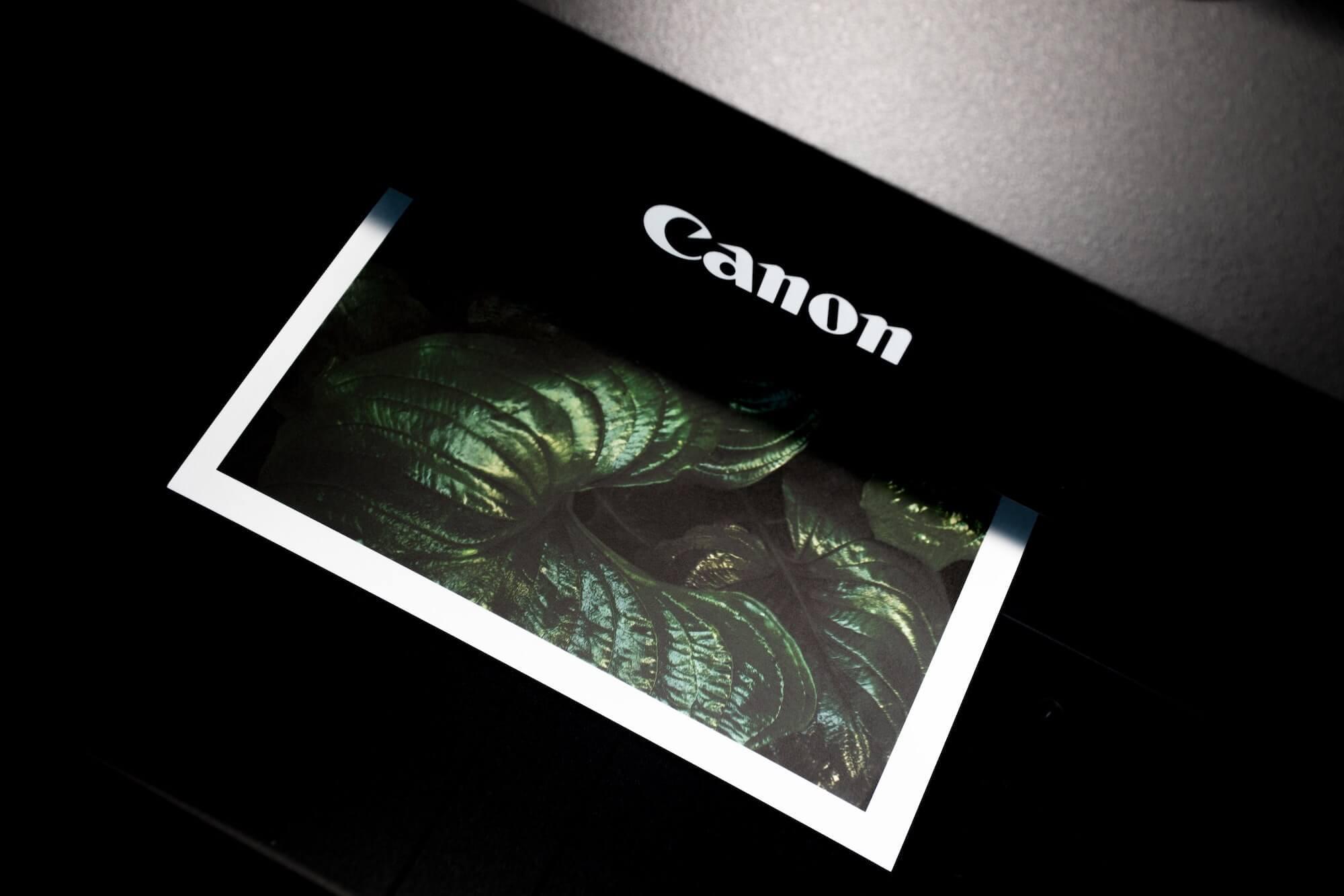Impression d'une photo avec une imprimante numérique personnelle