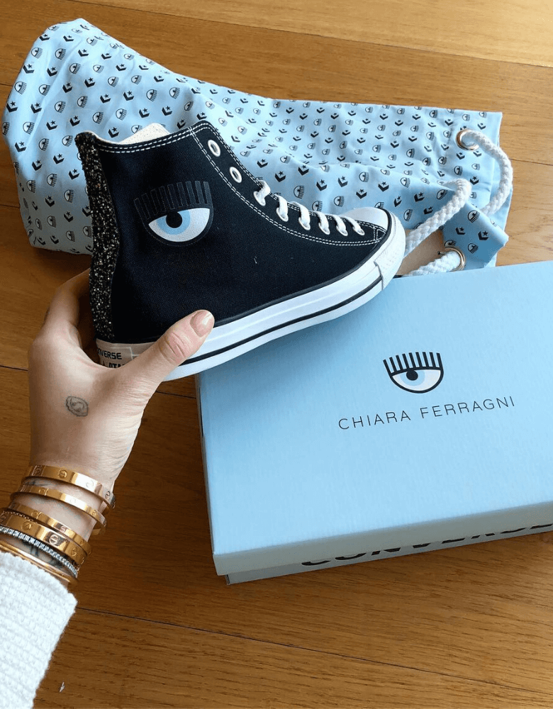Scarpe e packaging Chiara Ferragni