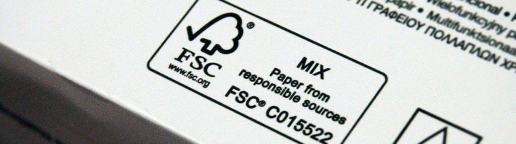 kraftový papír FSC certifikát