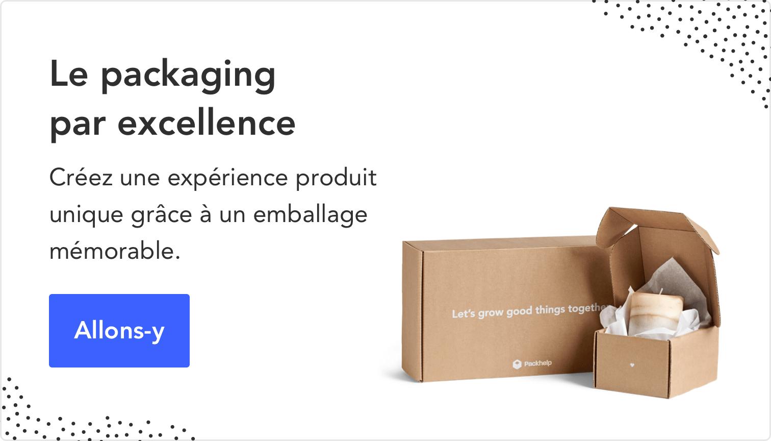 Packaging entièrement personnalisé avec Packhelp