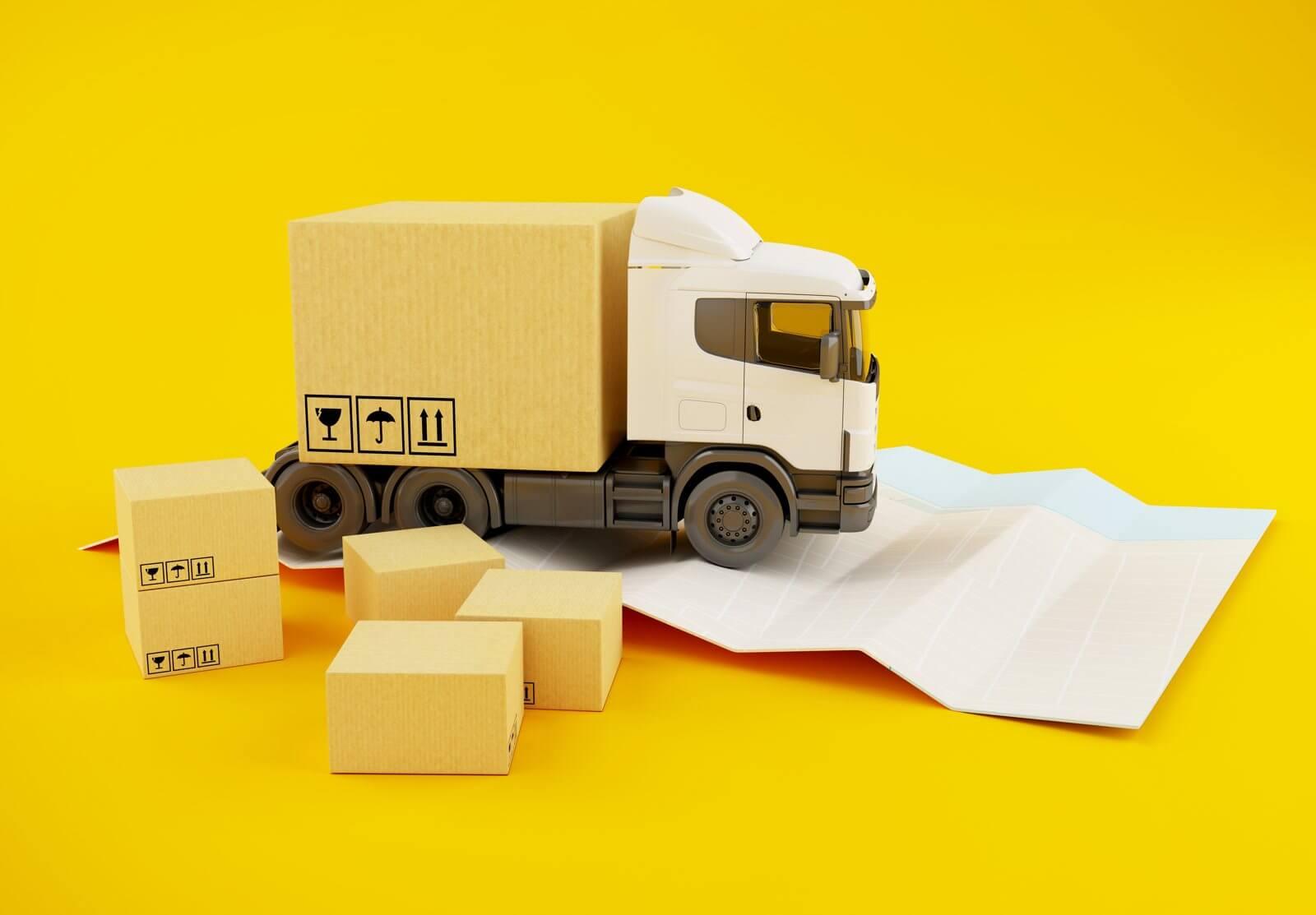 camion logistique e-commerce