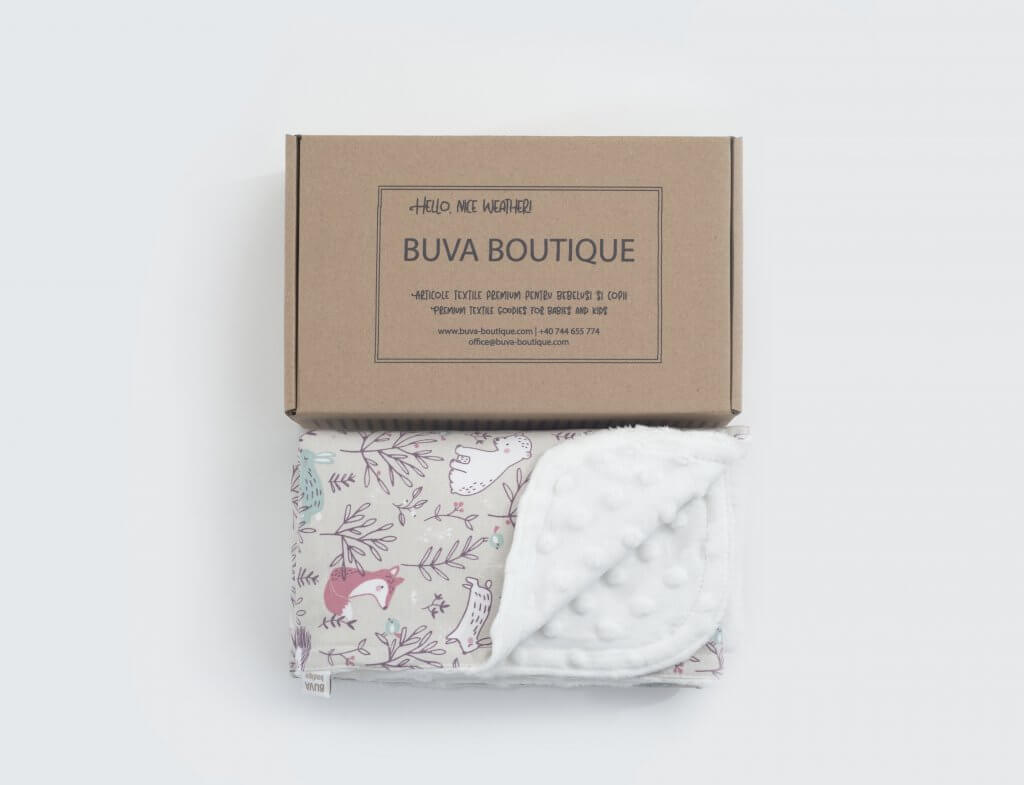 eco mailer box for winter blanket buva boutique