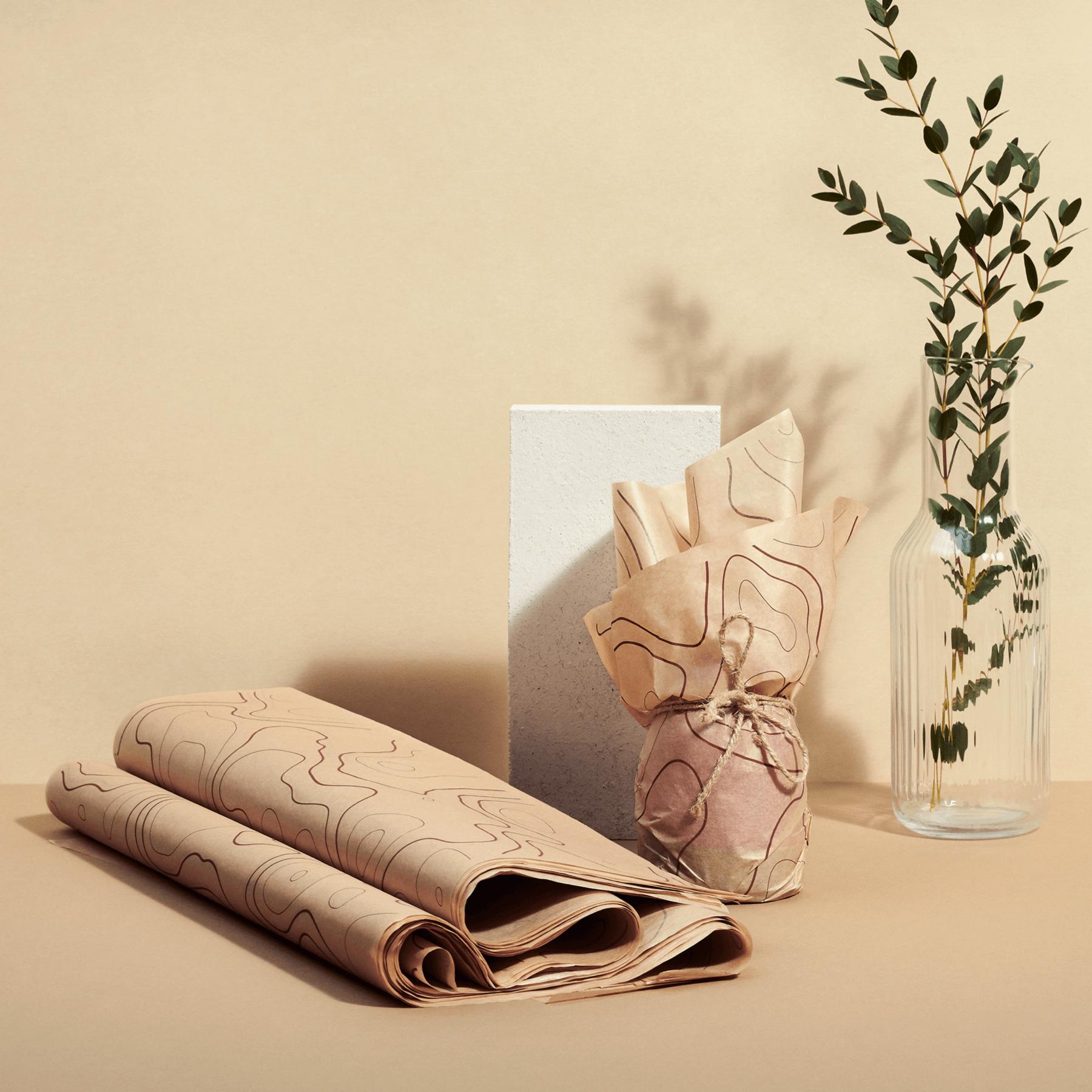 láminas de papel vegetal para empapelar productos
