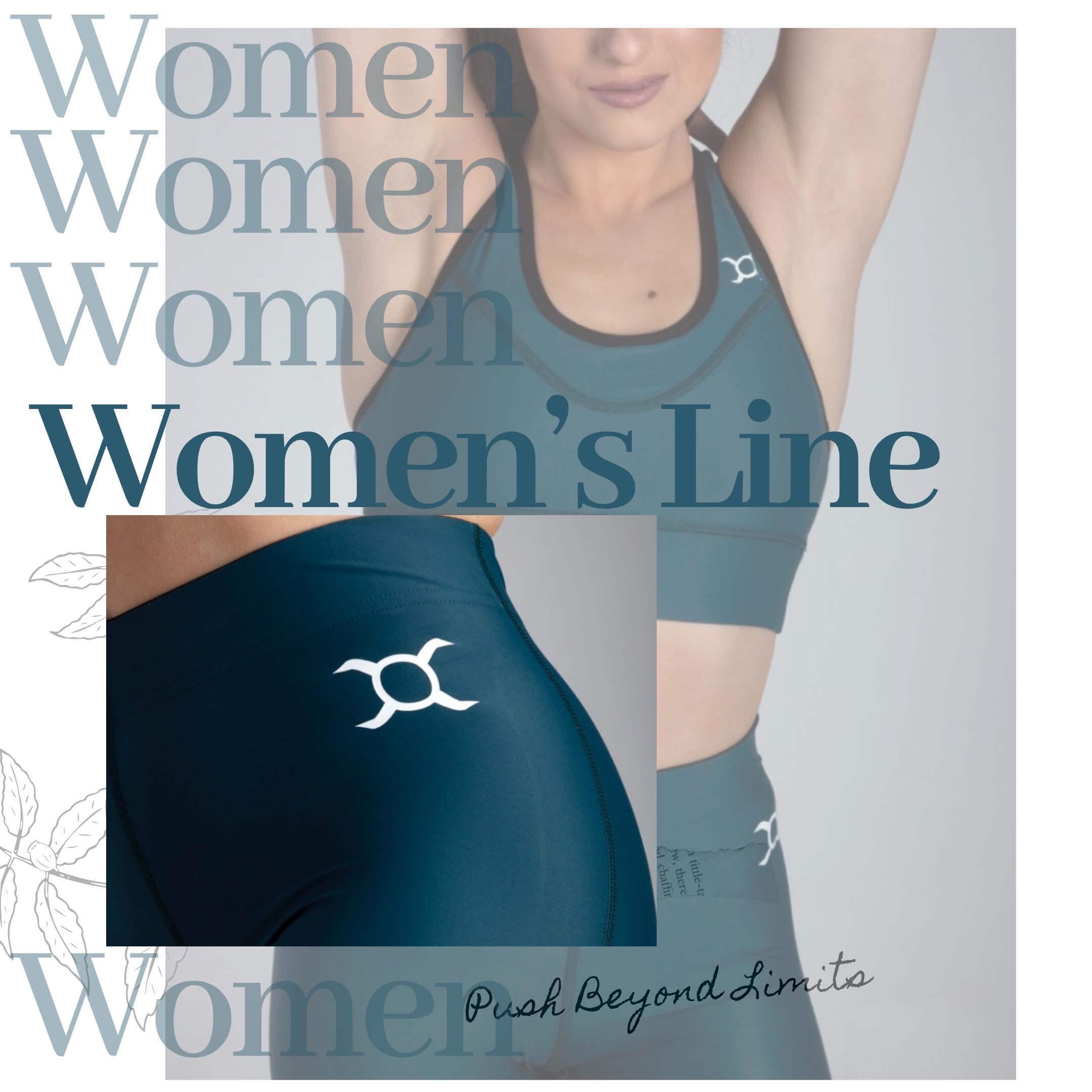 una mujer lleva ropa deportiva