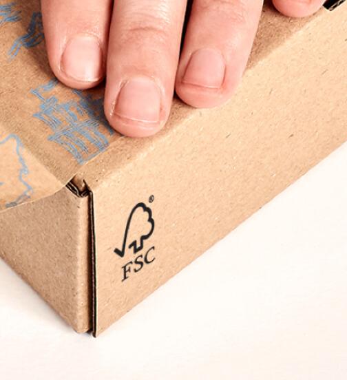 Logo certificat FSC sur un emballage