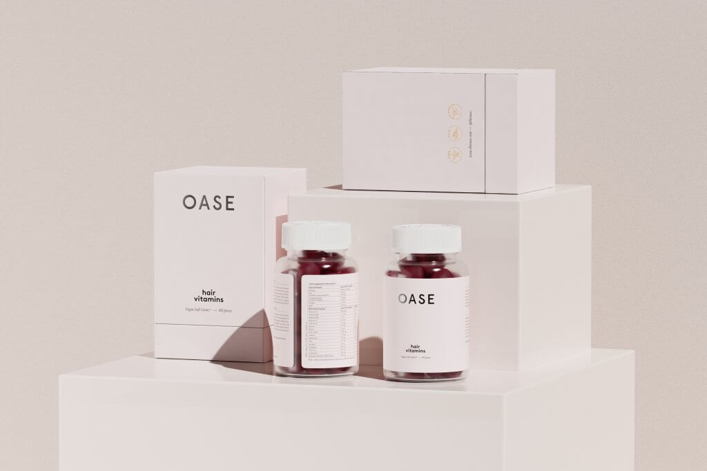 oase hair vitamins with rigid boxes