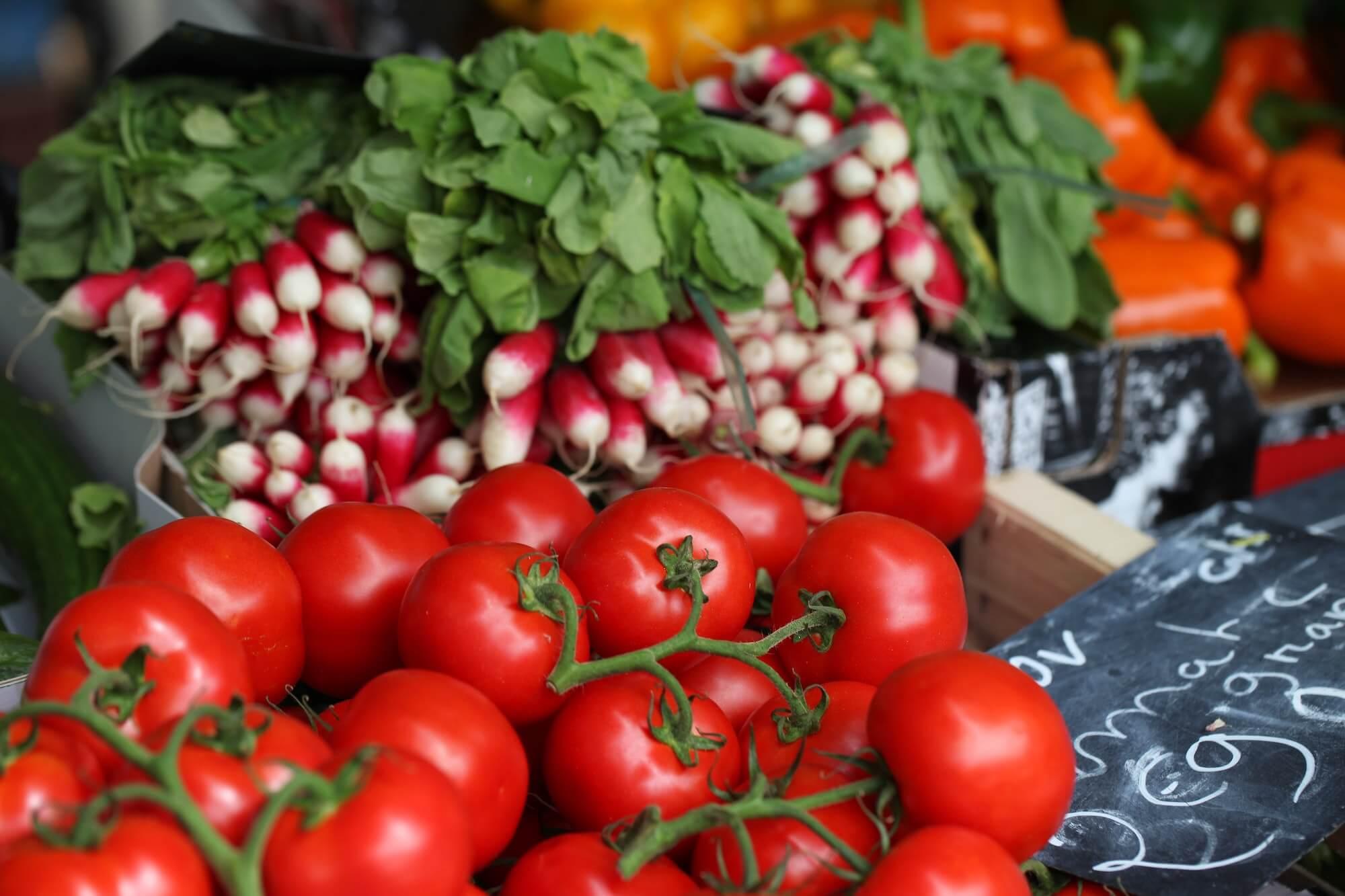 Légumes vendus en magasin
