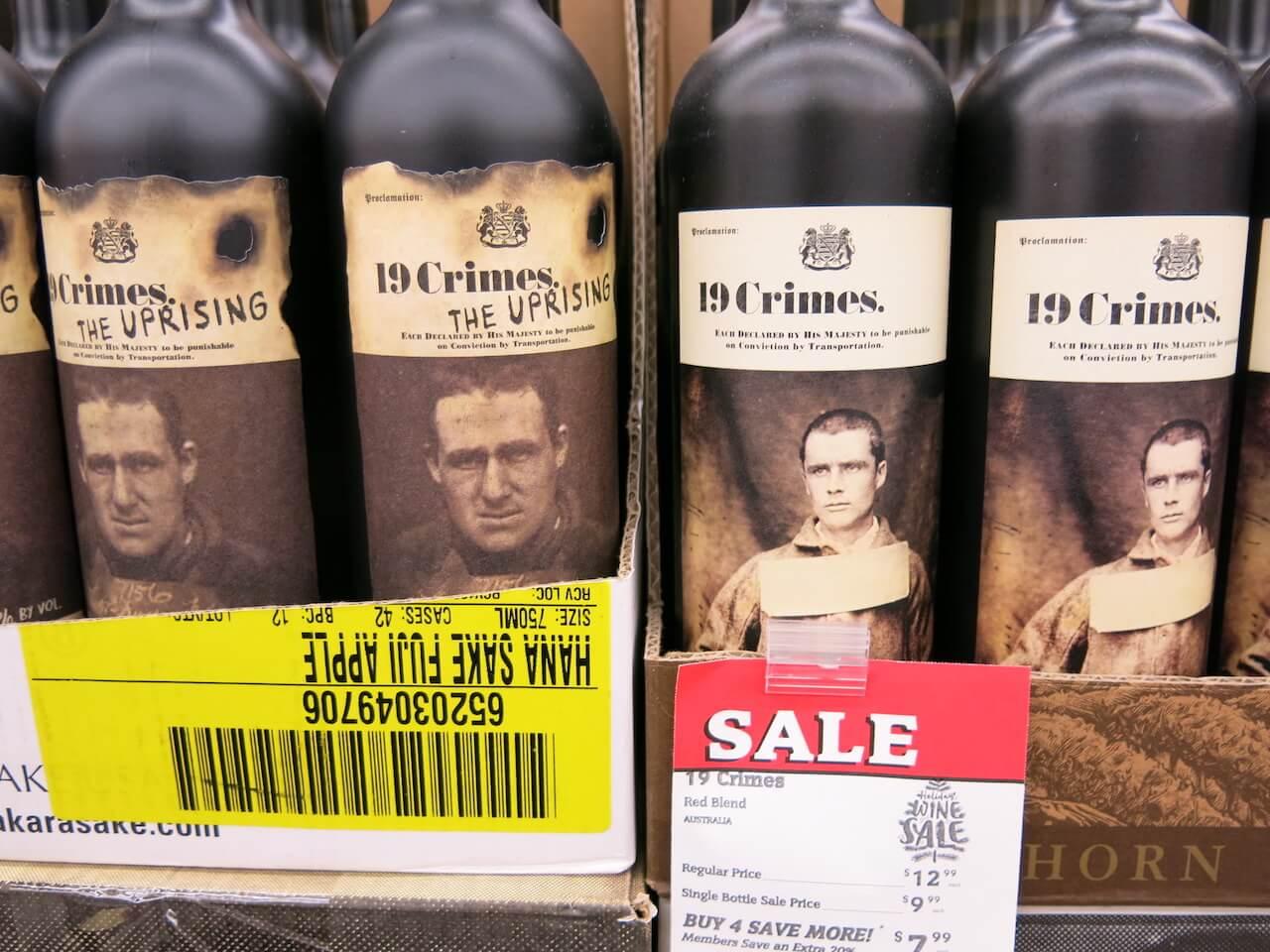 Bouteilles de vin 19 Crimes qui utilisent la réalité augmentée