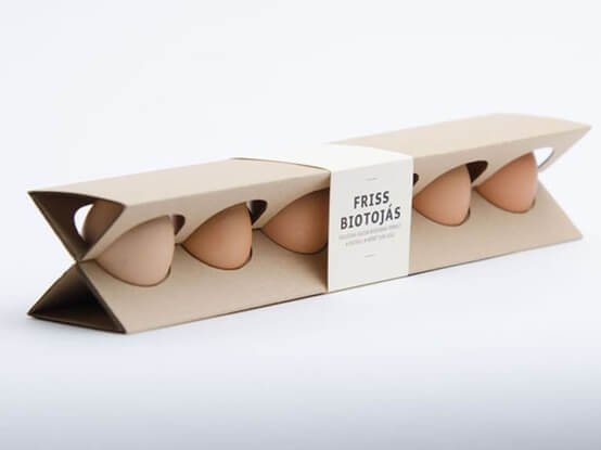 Emballage d'oeufs original et innovant