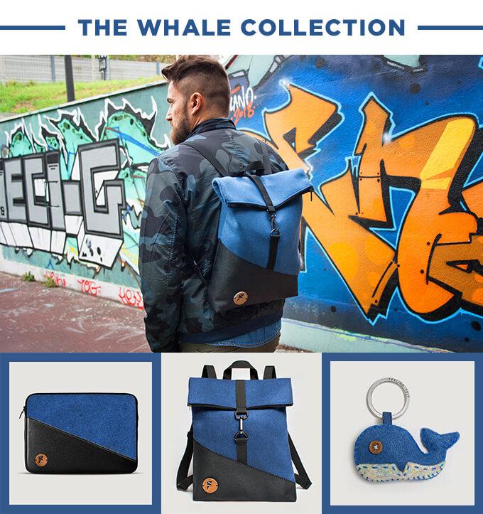 Collection d'accessoires Feeling Felt bleus