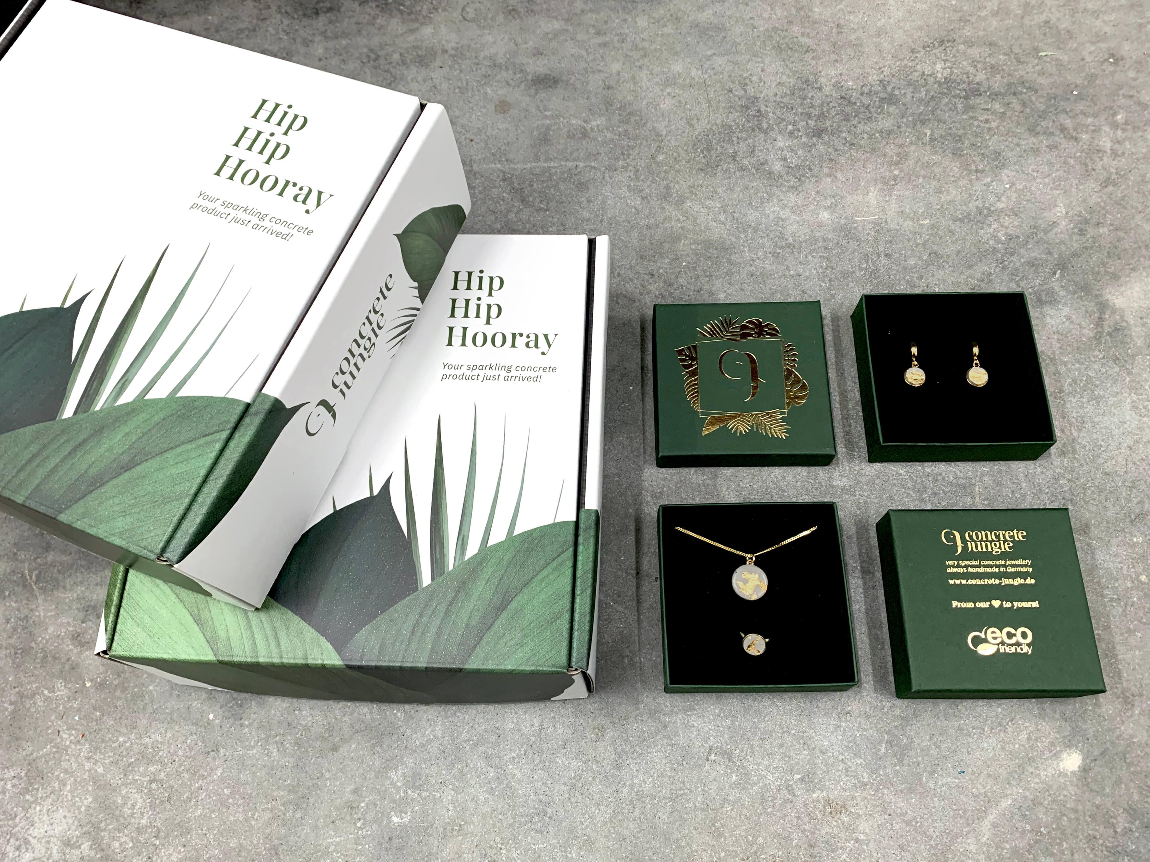 varias cajas para joyas de la marca Concrete Jungle