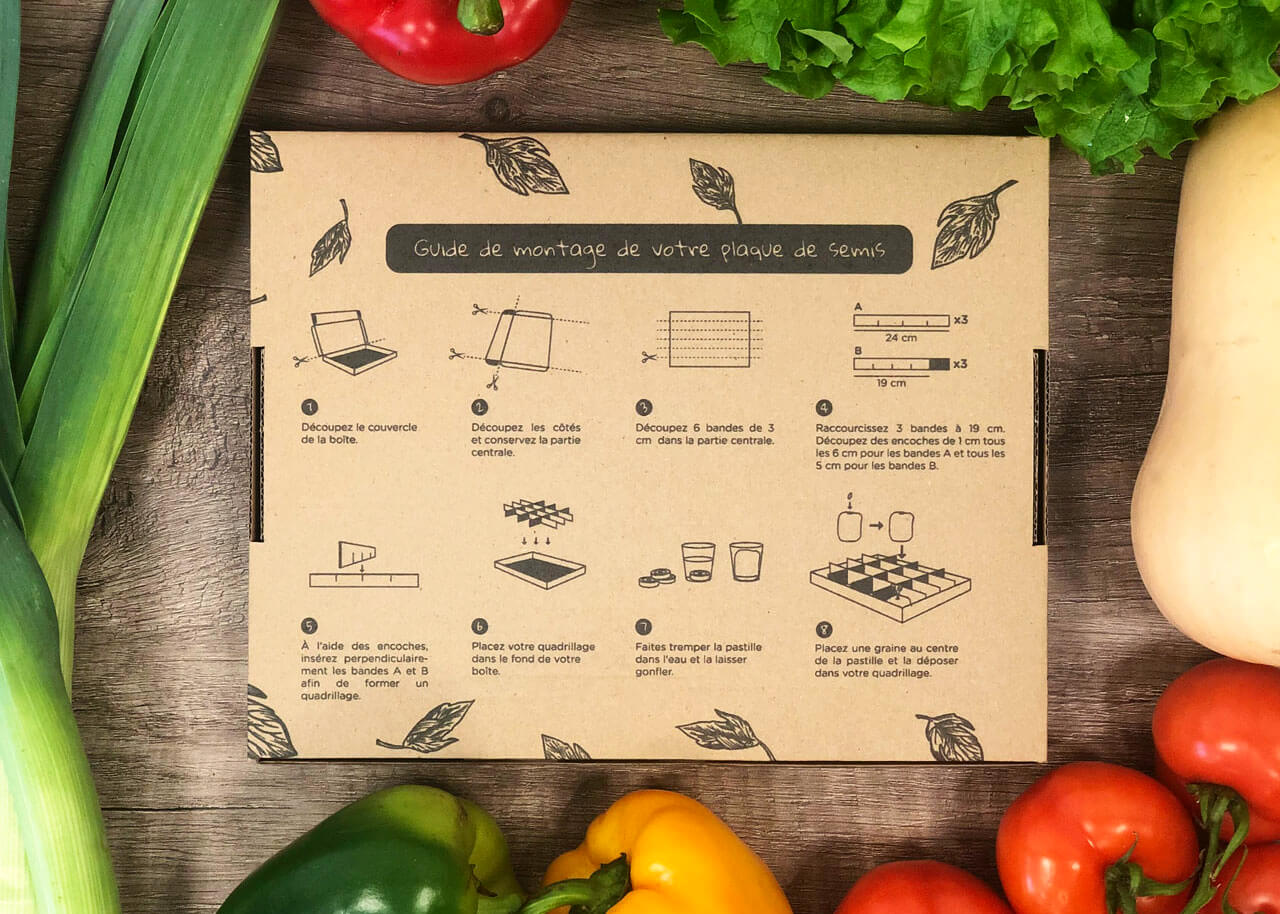 plancha de cartón para cultivar semillas
