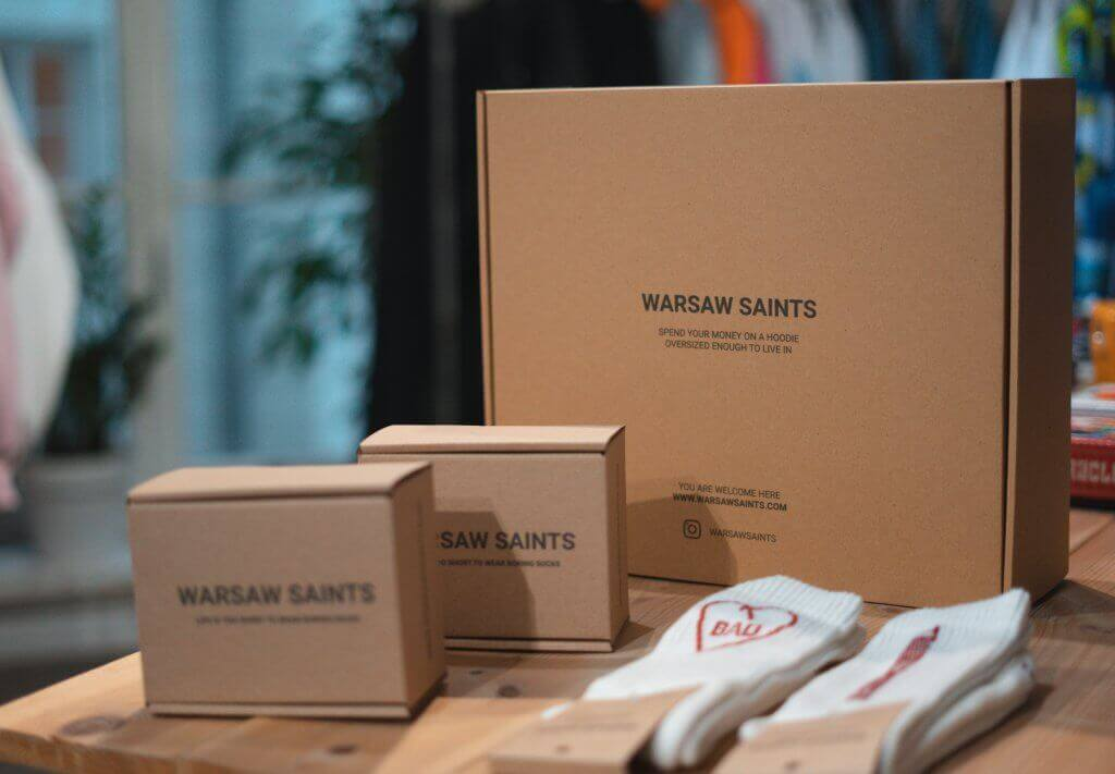 Warsaw Saints poštovní eco krabice