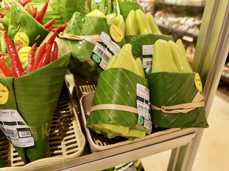 produce using banana leaves for packaging