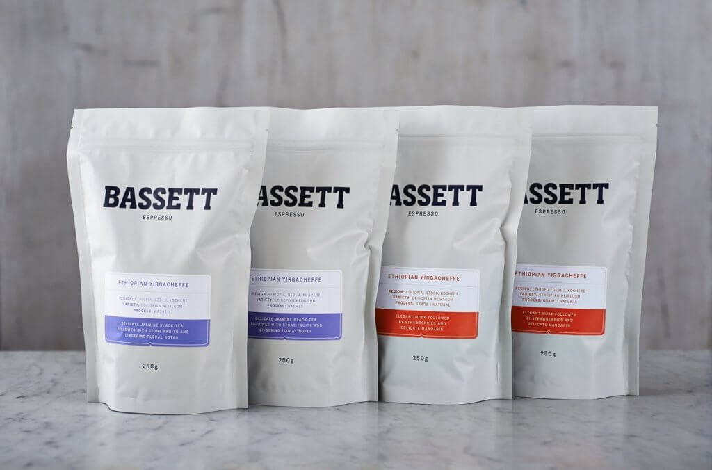 custom coffee pouches for bassett coffee