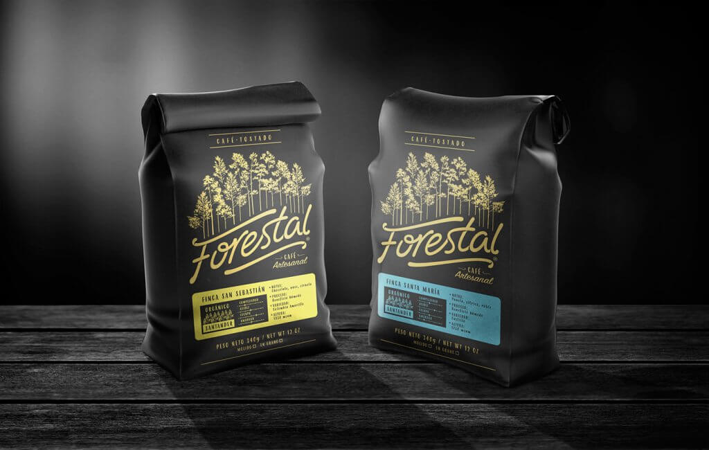 dark coffee packaging