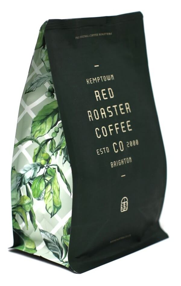 custom cofffee bags from redroaster coffee
