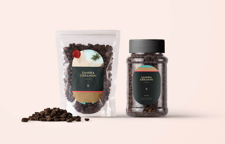 coffee packaging transparent