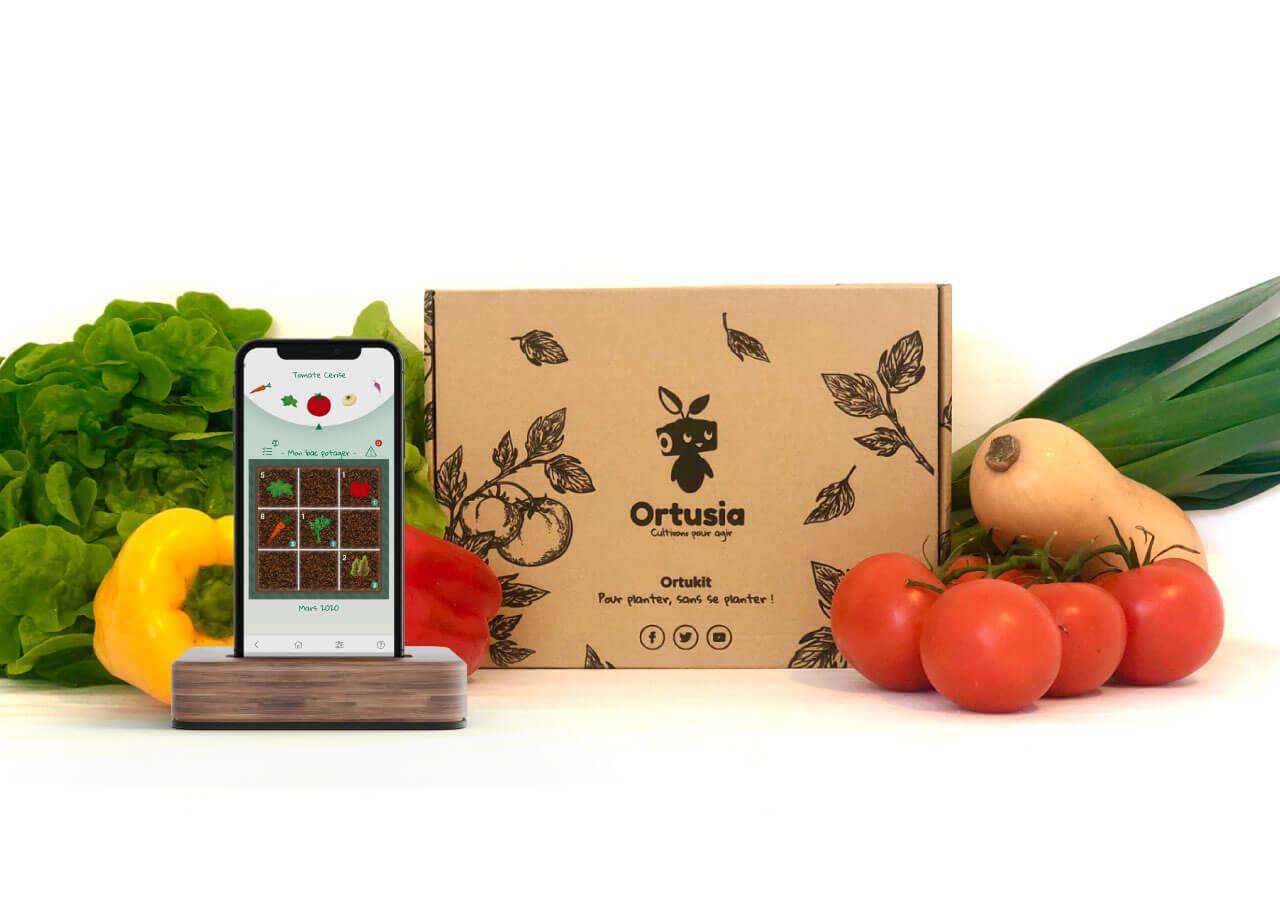Appli Ortusia, légumes et kit potager