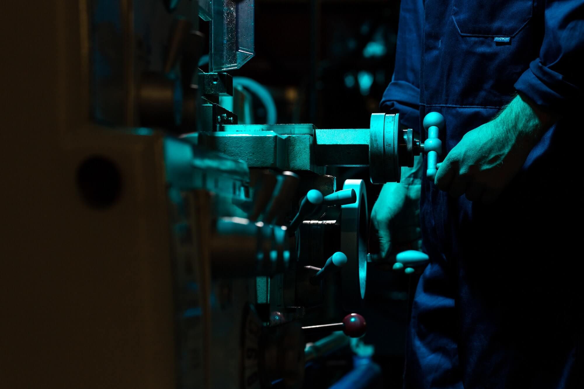 Ouvrir sur une machine de production