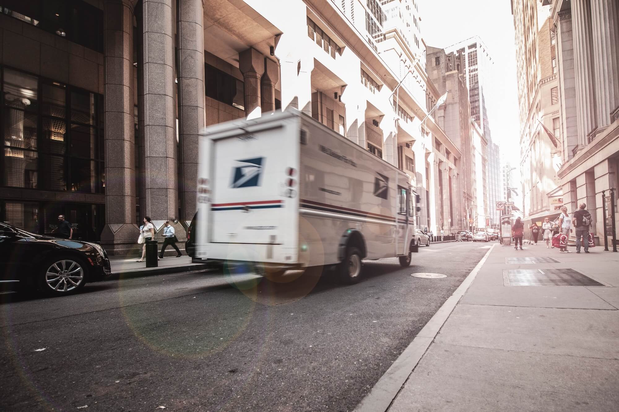 Camion de livraison aux clients