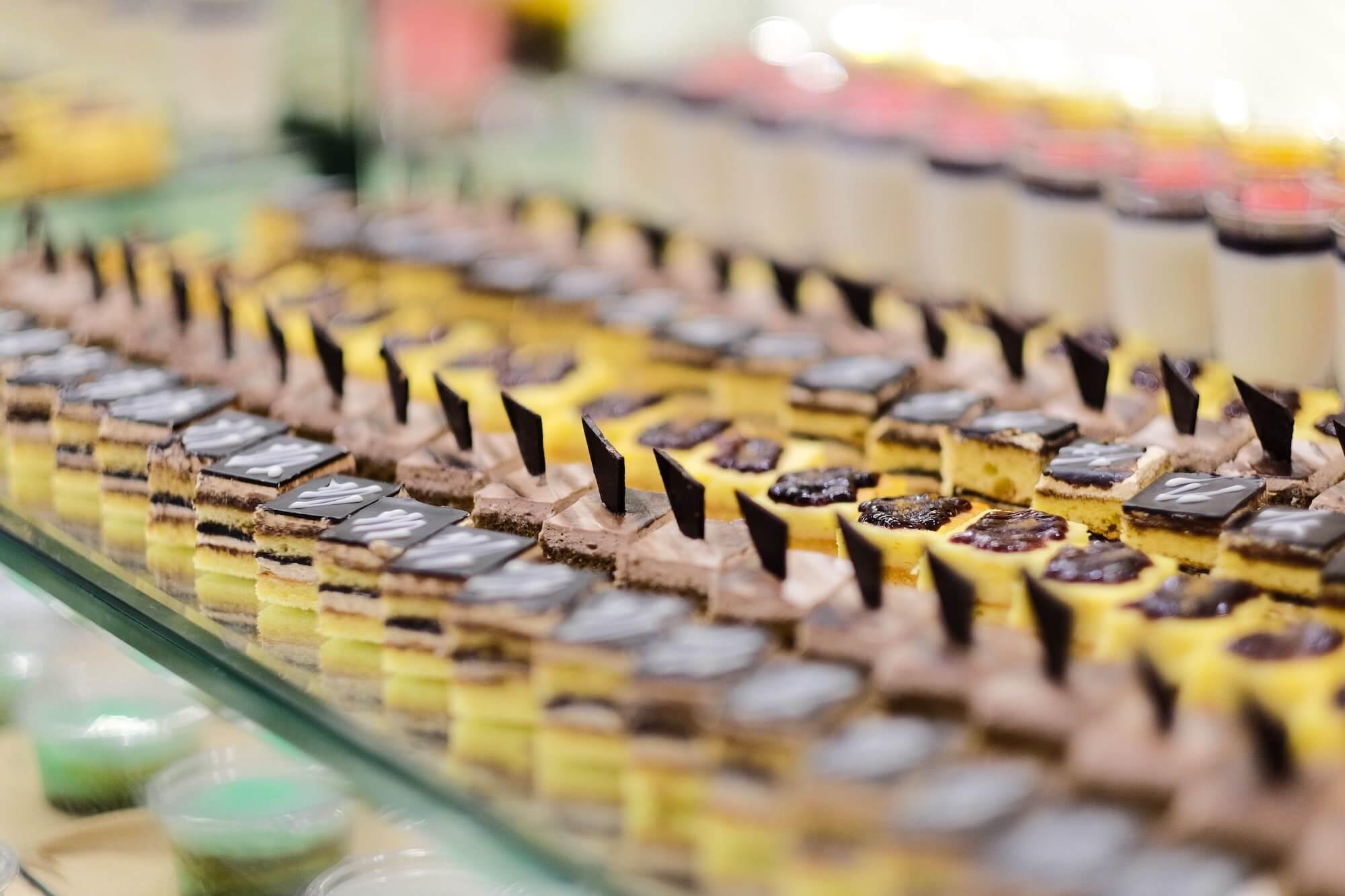Pâtisseries fabriquées en masse