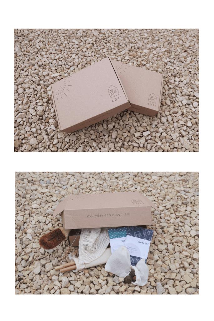cajas de cartón de la marca Koti