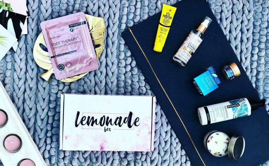 Boîte d'emballage et produits Lemonade Box