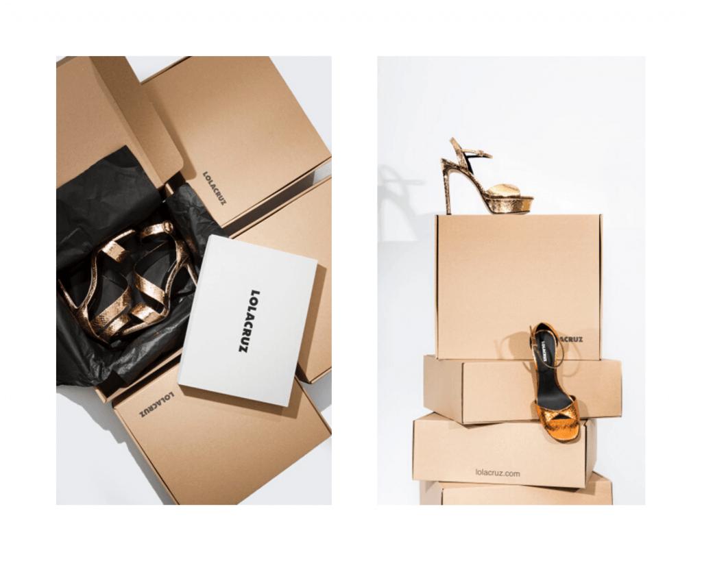 shoeboxes from packhelp for lola cruz