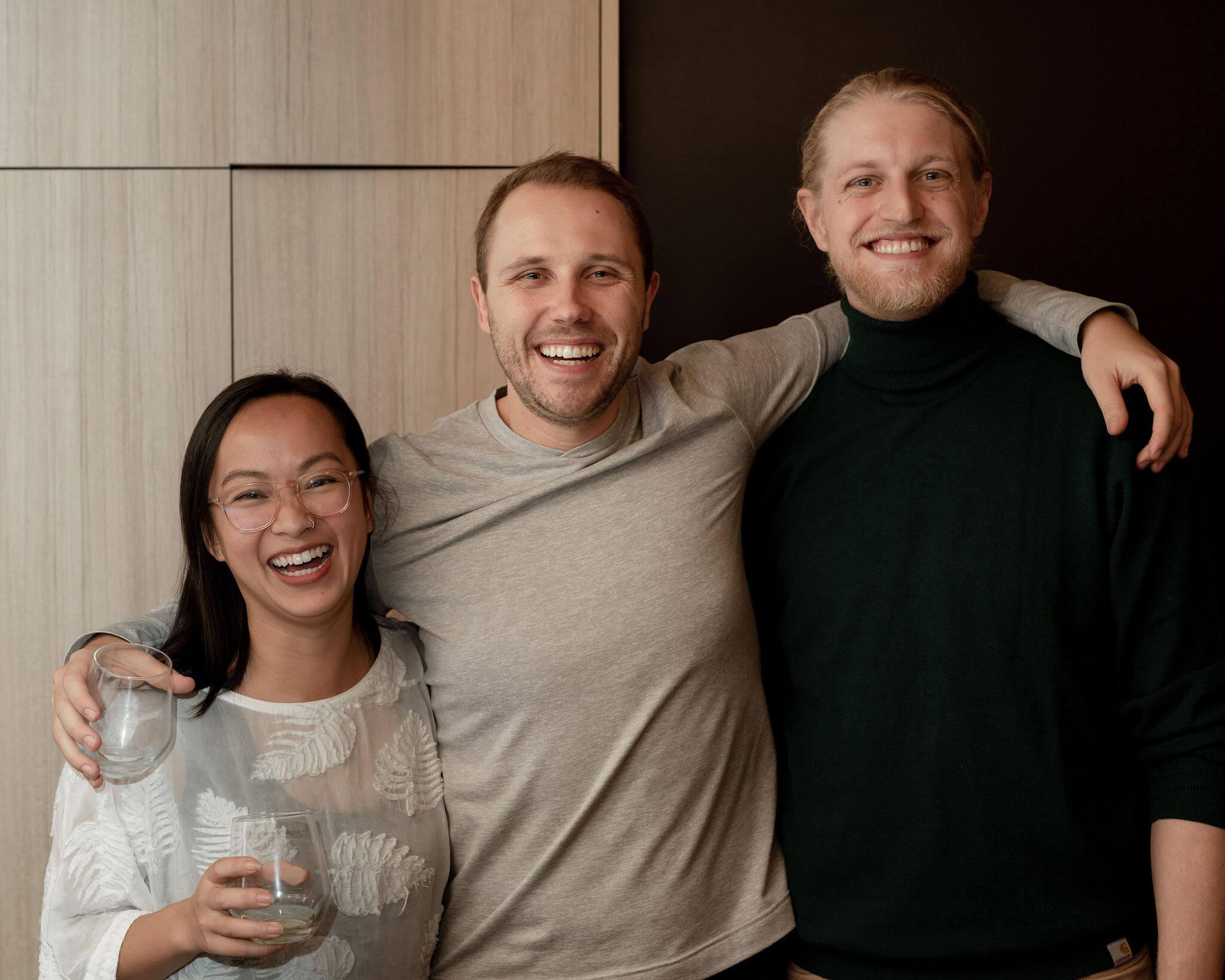 los tres fundadores de la empresa Fable Home