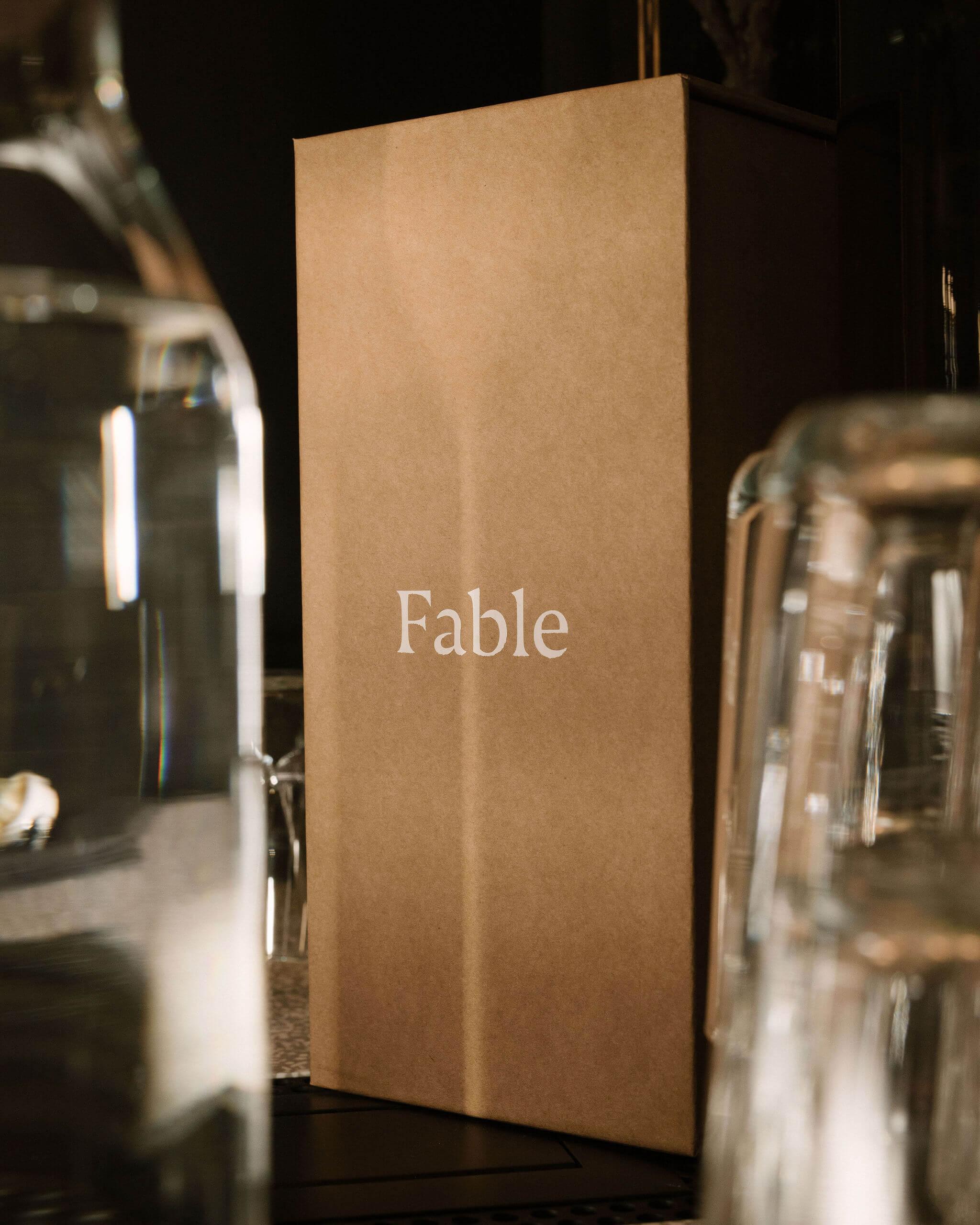 una caja postal con el logotipo de Fable Home