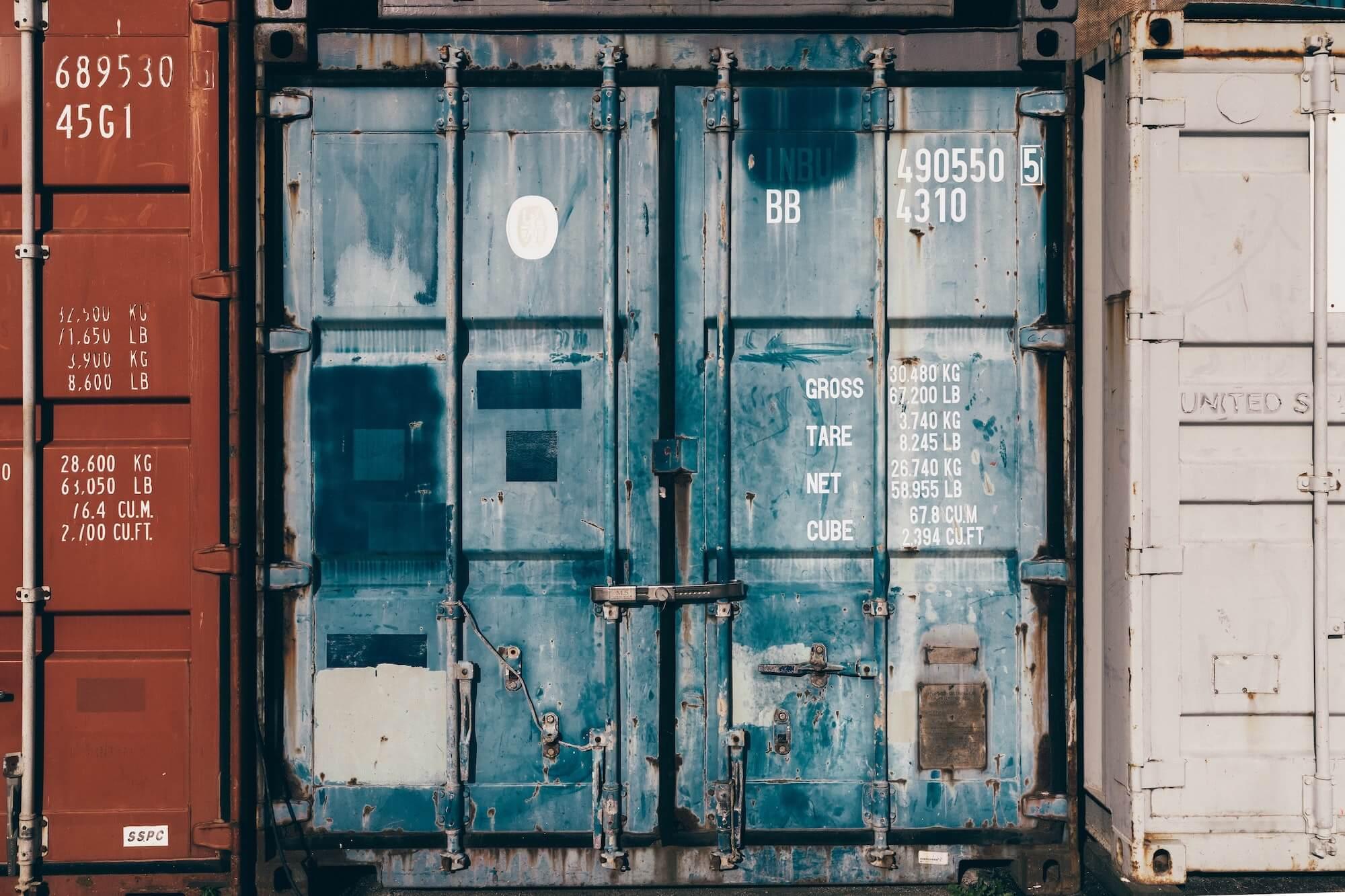 Container pour un envoie de colis à l'international