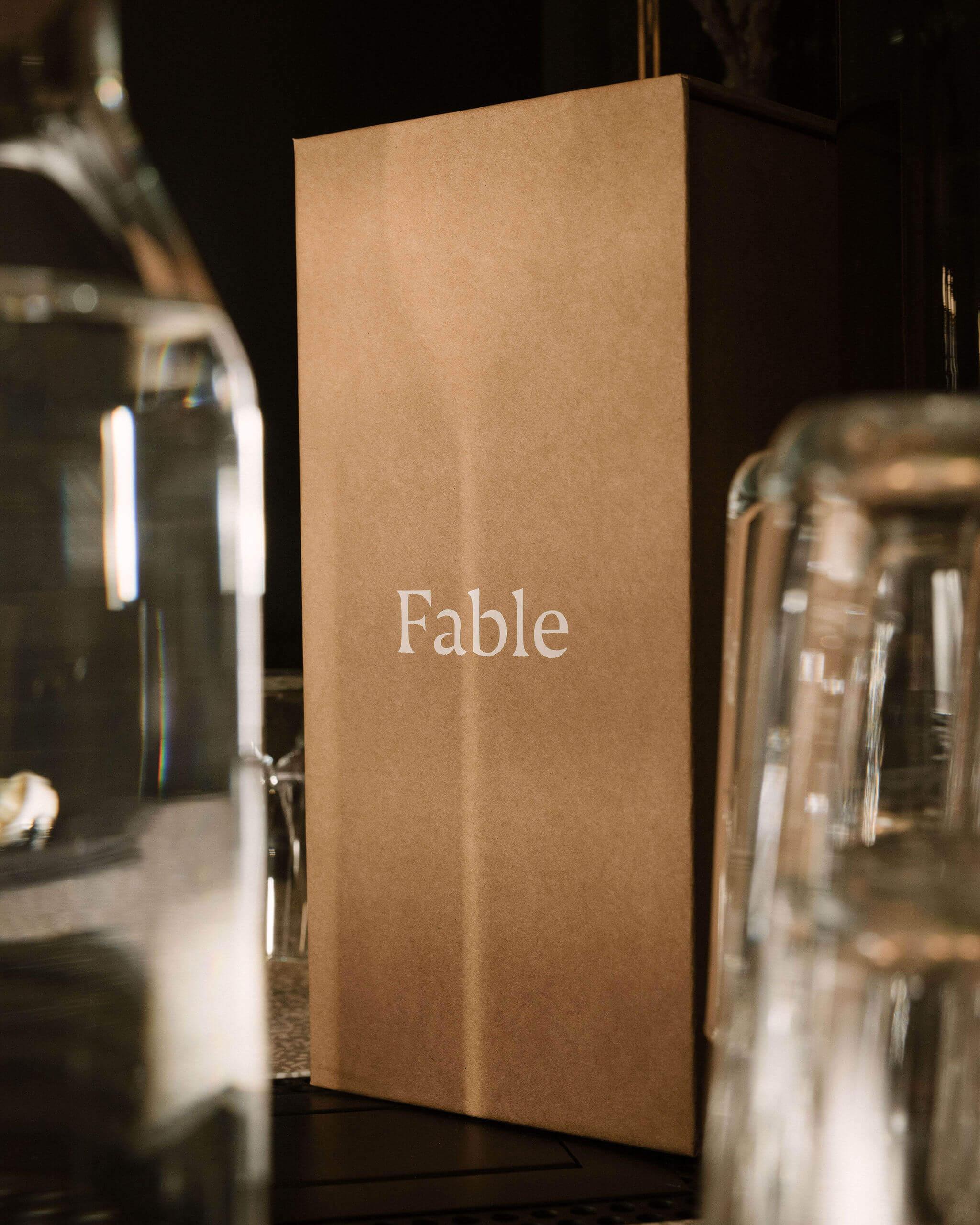 Boîte et verres Fable Home