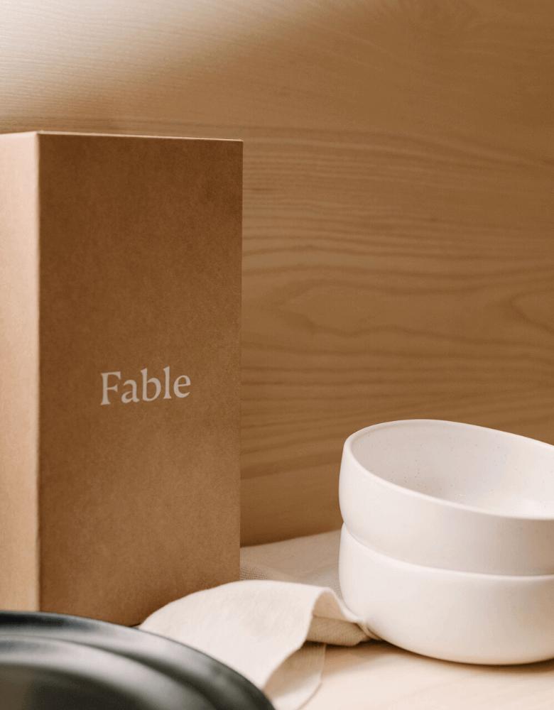Vaisselle et boîte d'emballage Fable Home