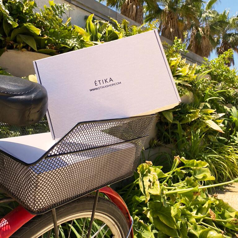 Boîte d'emballage écologique Étika Shop