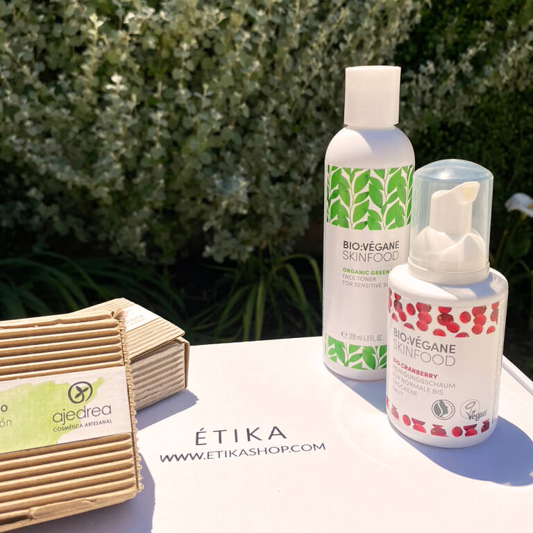 Packaging et produits Étika Shop