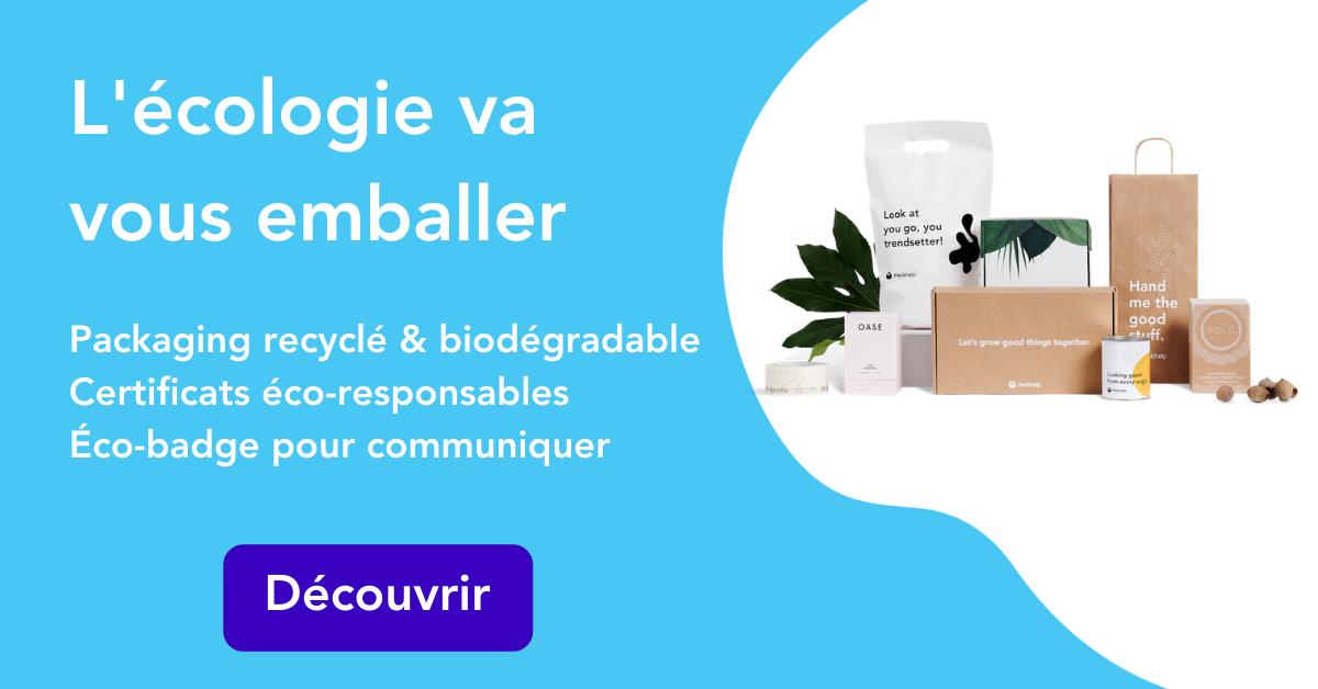 Utilisez un packaging écologique, biodégradable et recyclé avec les certificats à l'appui