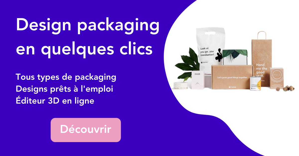 Concevez votre design de packaging en quelques clics seulement avec l'éditeur 3D de Packhelp