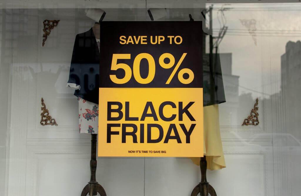 Affiche de remise à l'occasion du Black Friday