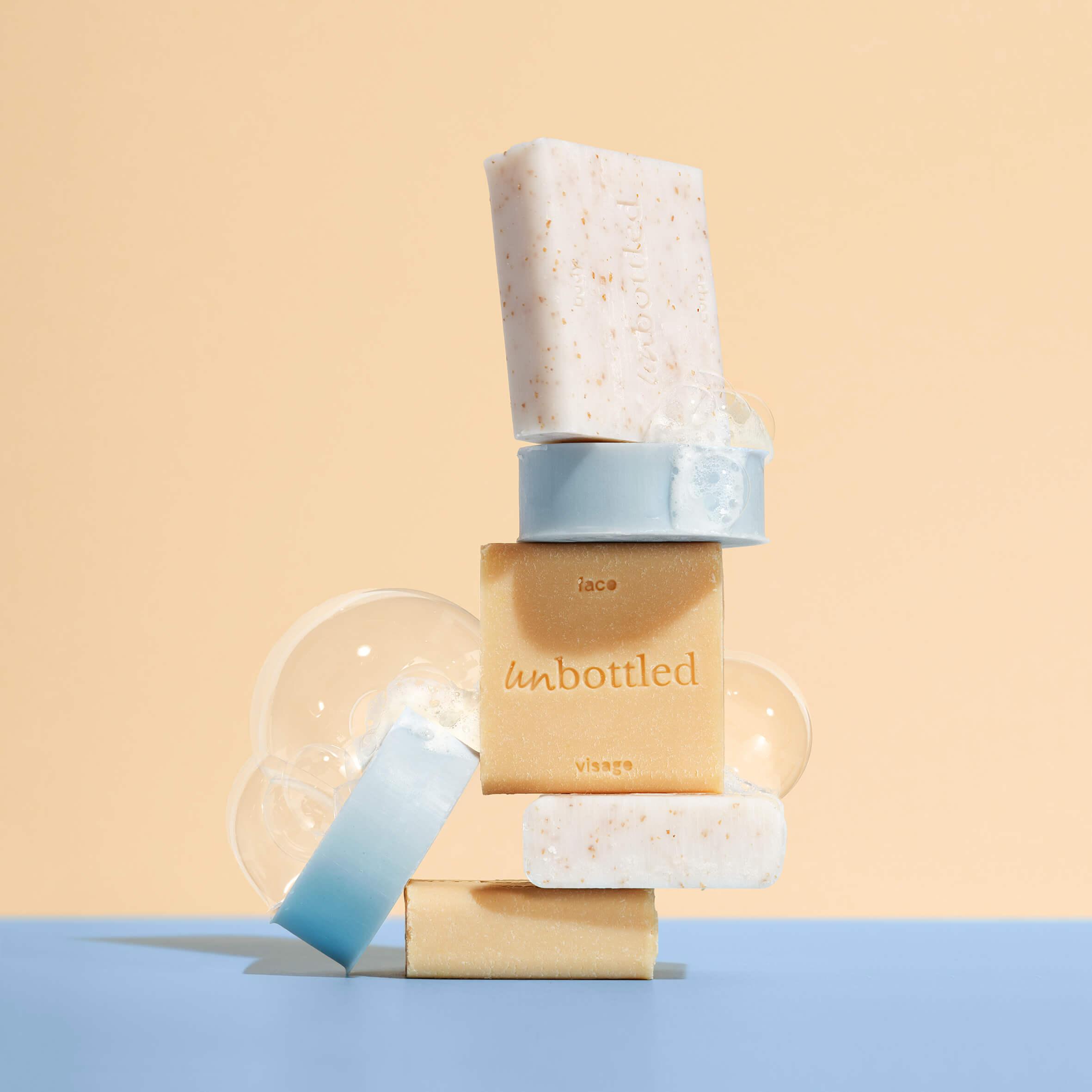 pastillas de jabón de la marca Unbottled