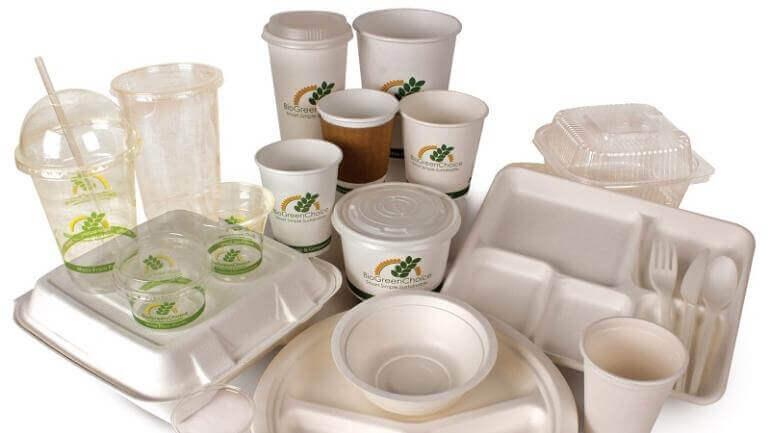 Couverts en bioplastique